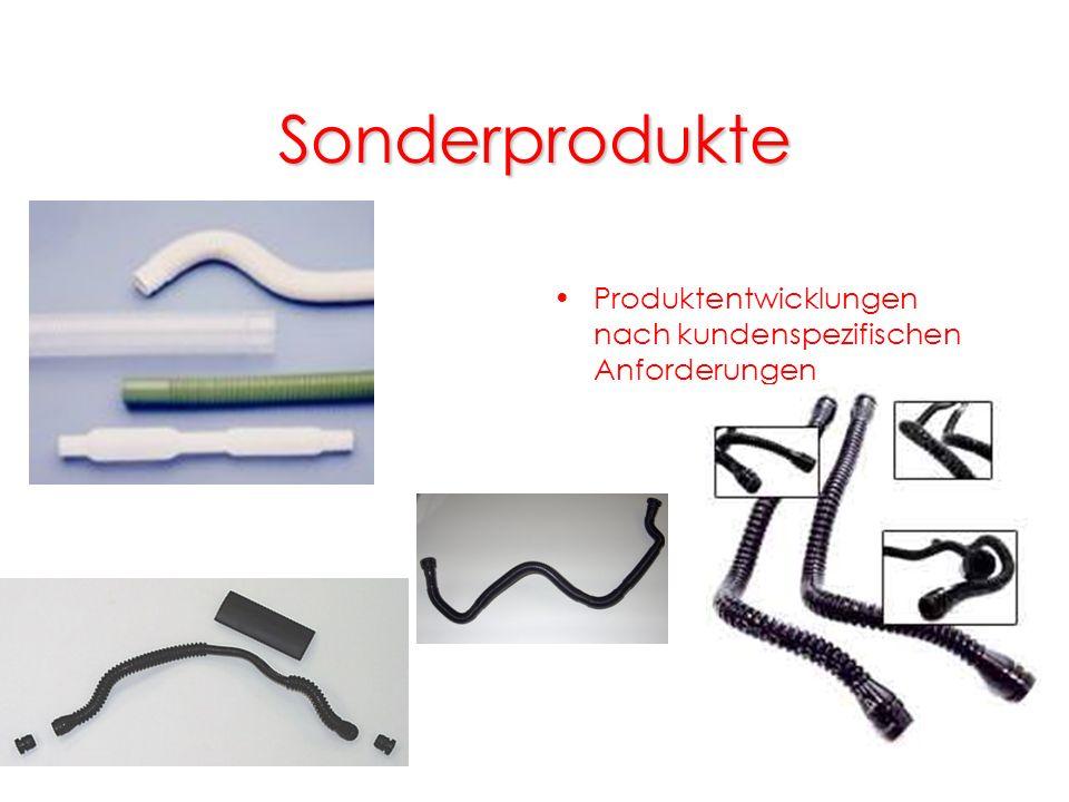 Sonderprodukte Produktentwicklungen nach kundenspezifischen Anforderungen
