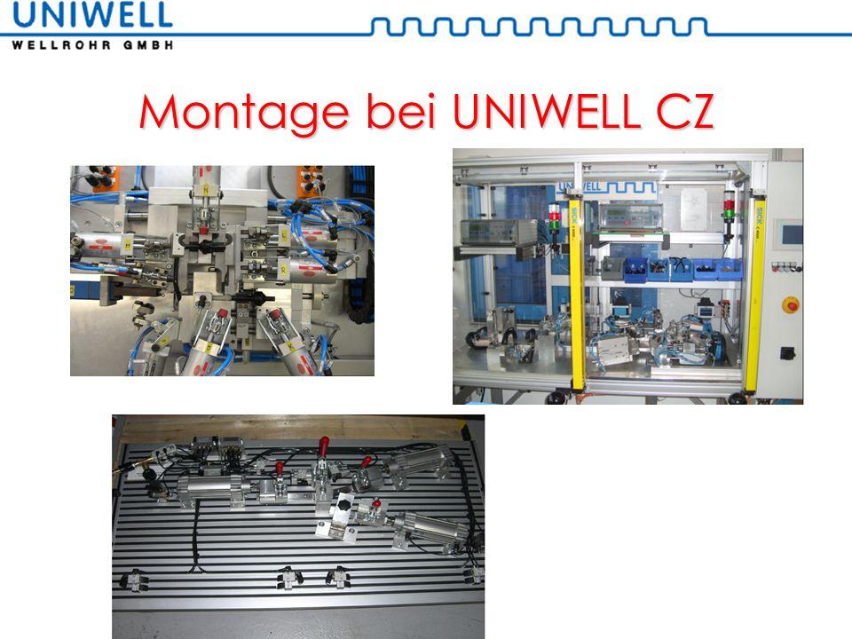Montage bei UNIWELL CZ