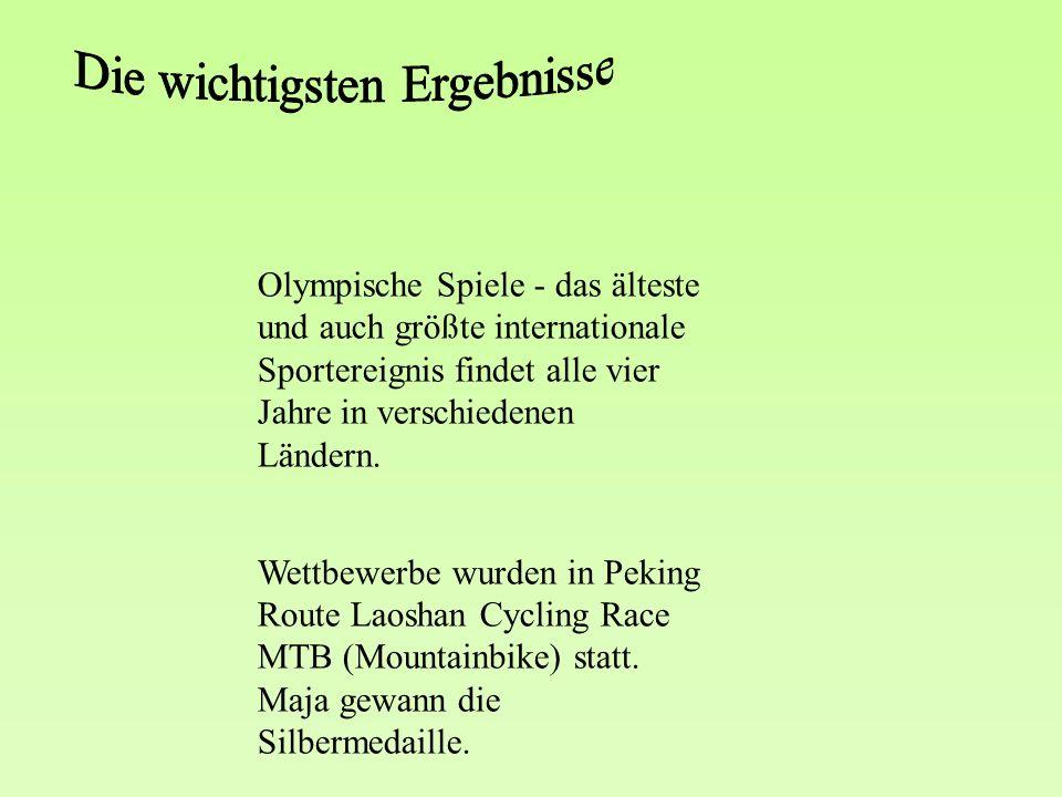 Olympische Spiele - das älteste und auch größte internationale Sportereignis findet alle vier Jahre in verschiedenen Ländern.