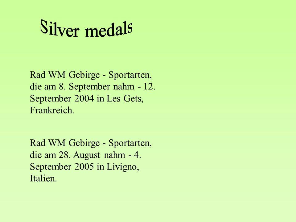 Rad WM Gebirge - Sportarten, die am 8. September nahm - 12.