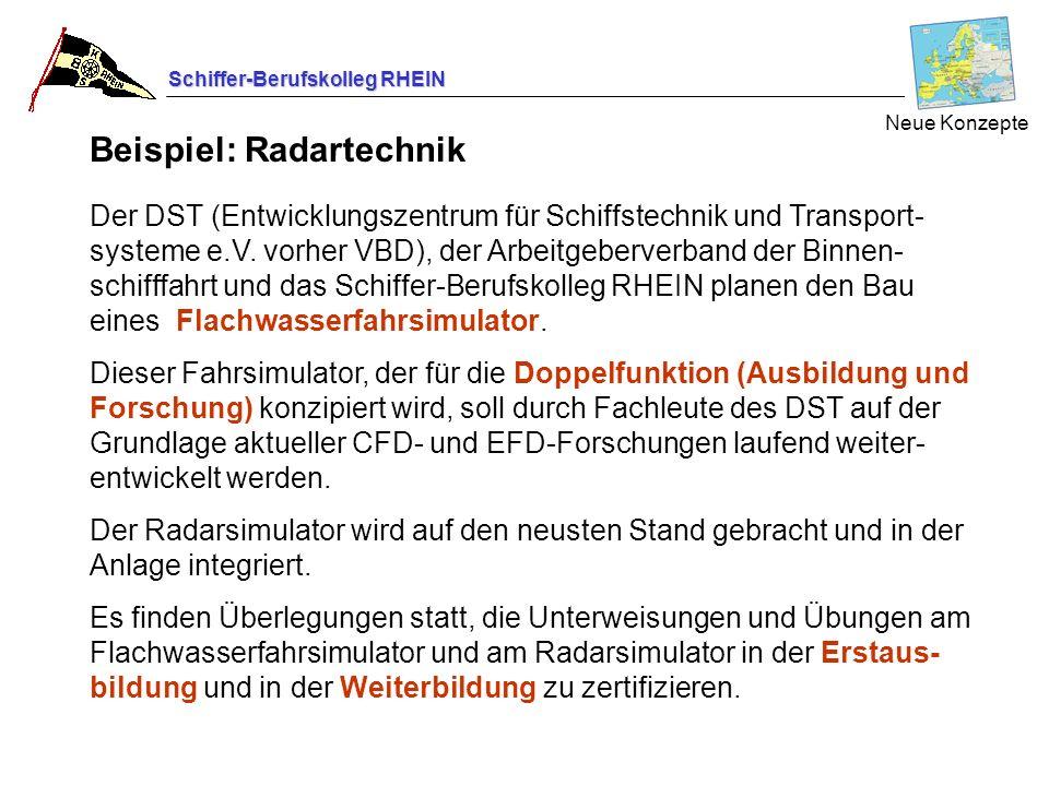 Schiffer-Berufskolleg RHEIN Neue Konzepte Der DST (Entwicklungszentrum für Schiffstechnik und Transport- systeme e.V. vorher VBD), der Arbeitgeberverb