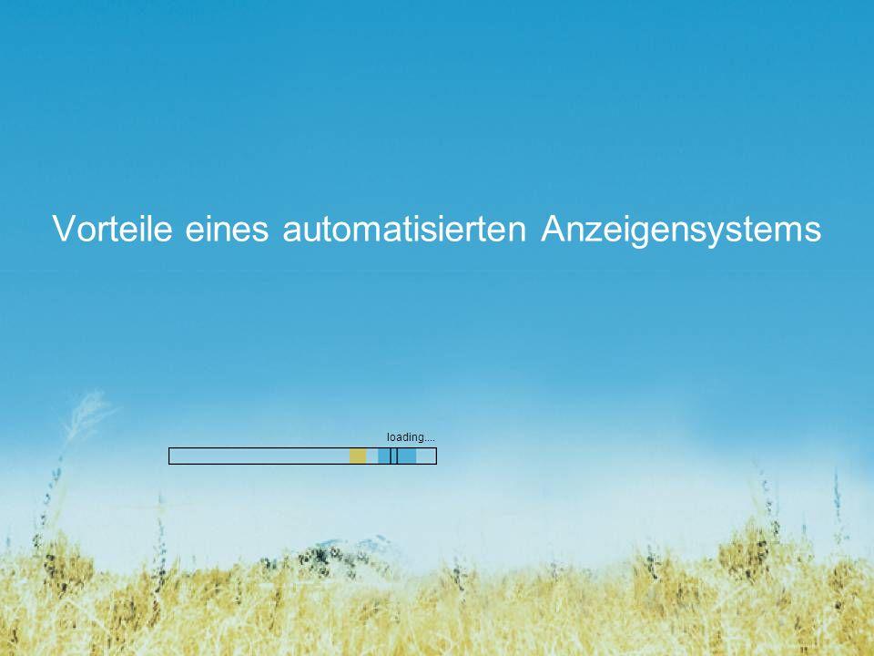 Vorteile eines automatisierten Anzeigensystems loading....