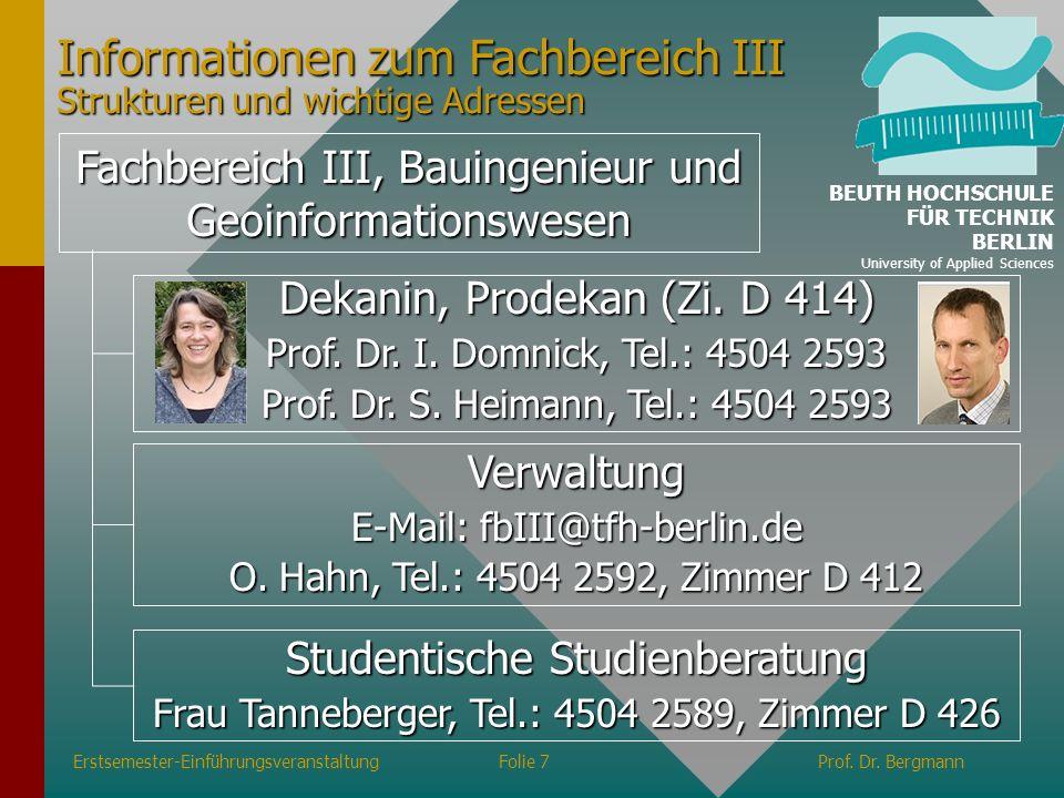 Studiengang Vermessungswesen und Geomatik Prof.Dr.