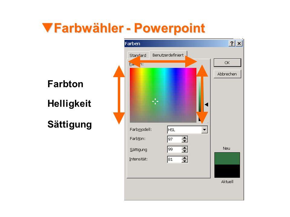 Farbwähler - Powerpoint Farbwähler - Powerpoint Sättigung Farbton Helligkeit