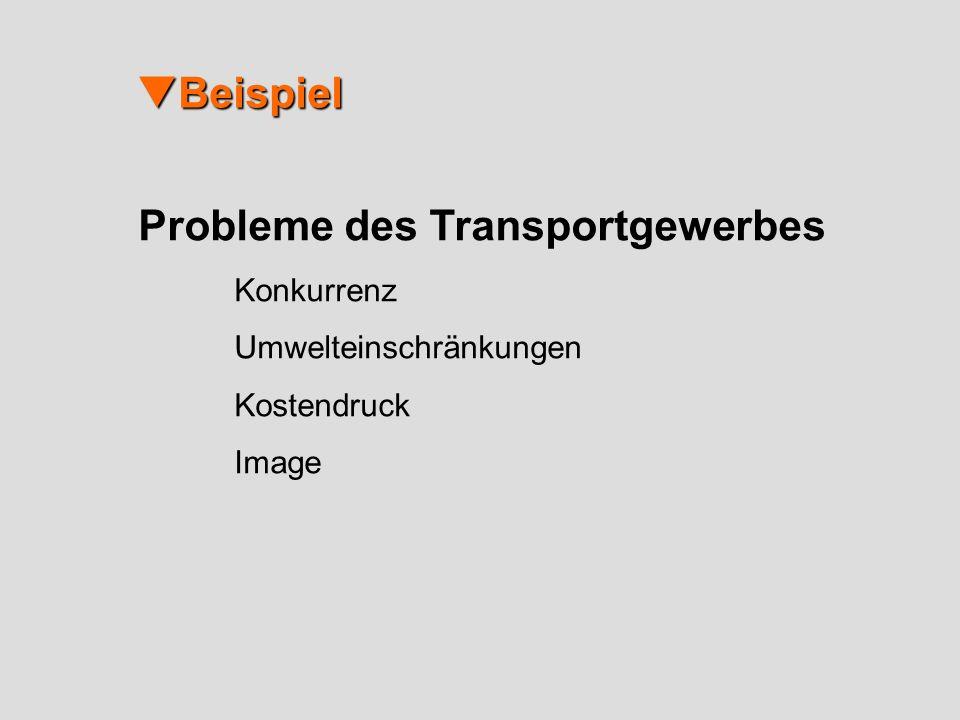Beispiel Beispiel Probleme des Transportgewerbes Konkurrenz Umwelteinschränkungen Kostendruck Image