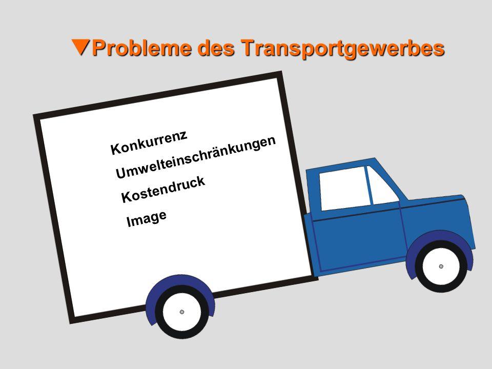 Probleme des Transportgewerbes Probleme des Transportgewerbes Konkurrenz Umwelteinschränkungen Kostendruck Image