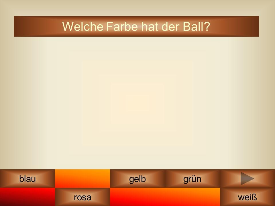 orange gelbblau rosa grün weiß lila Welche Farbe hat der Ball?