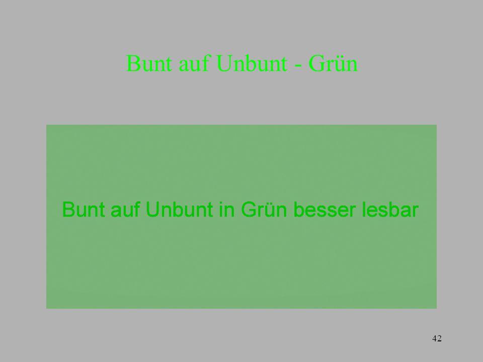 42 Bunt auf Unbunt - Grün