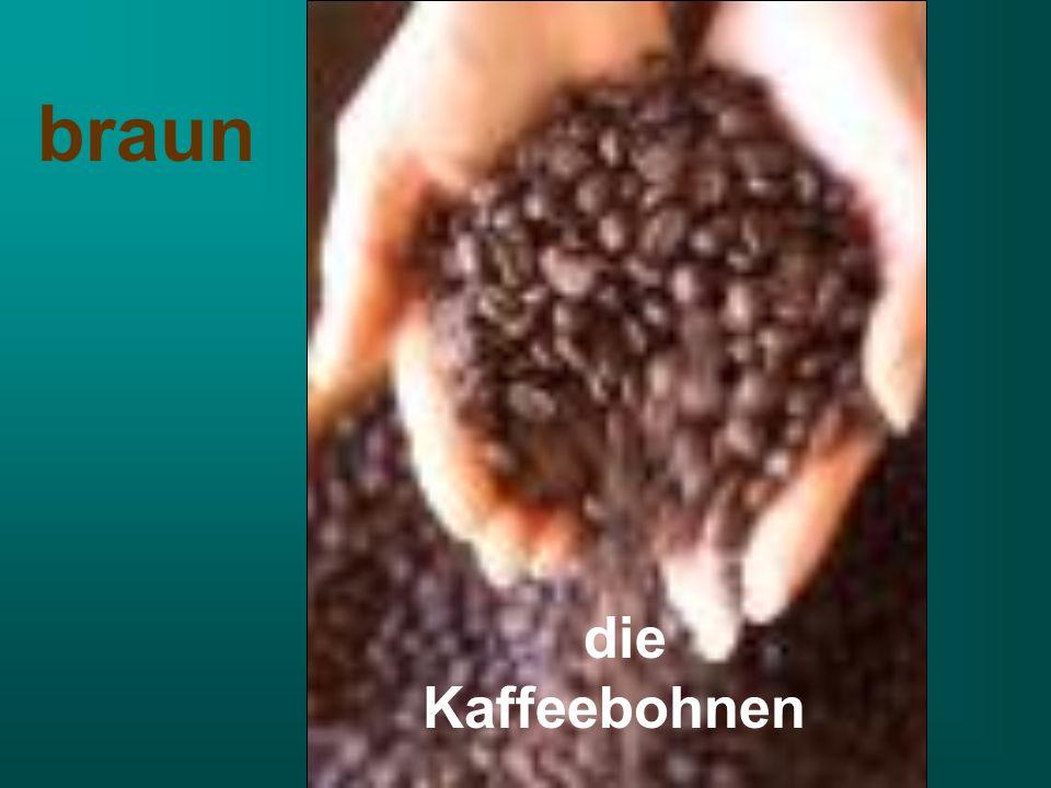 die Kaffeebohnen braun