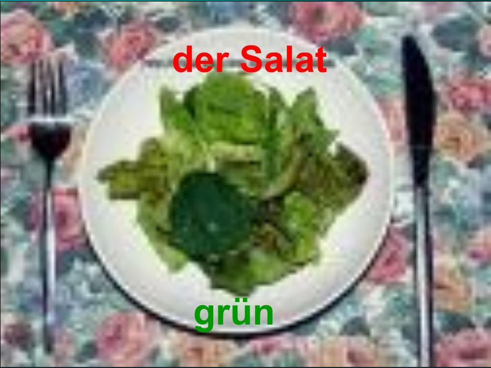 der Salat grün