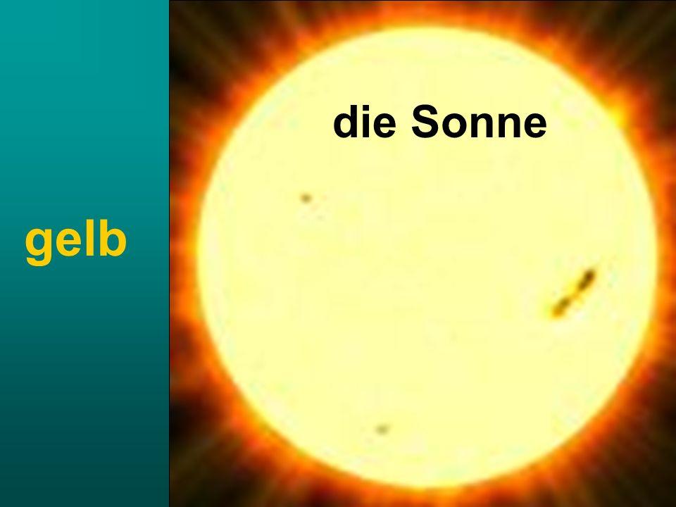 die Sonne gelb
