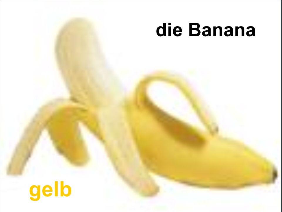 die Banana gelb