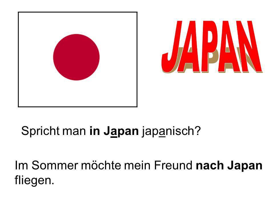 Spricht man in Japan japanisch? Im Sommer möchte mein Freund nach Japan fliegen.