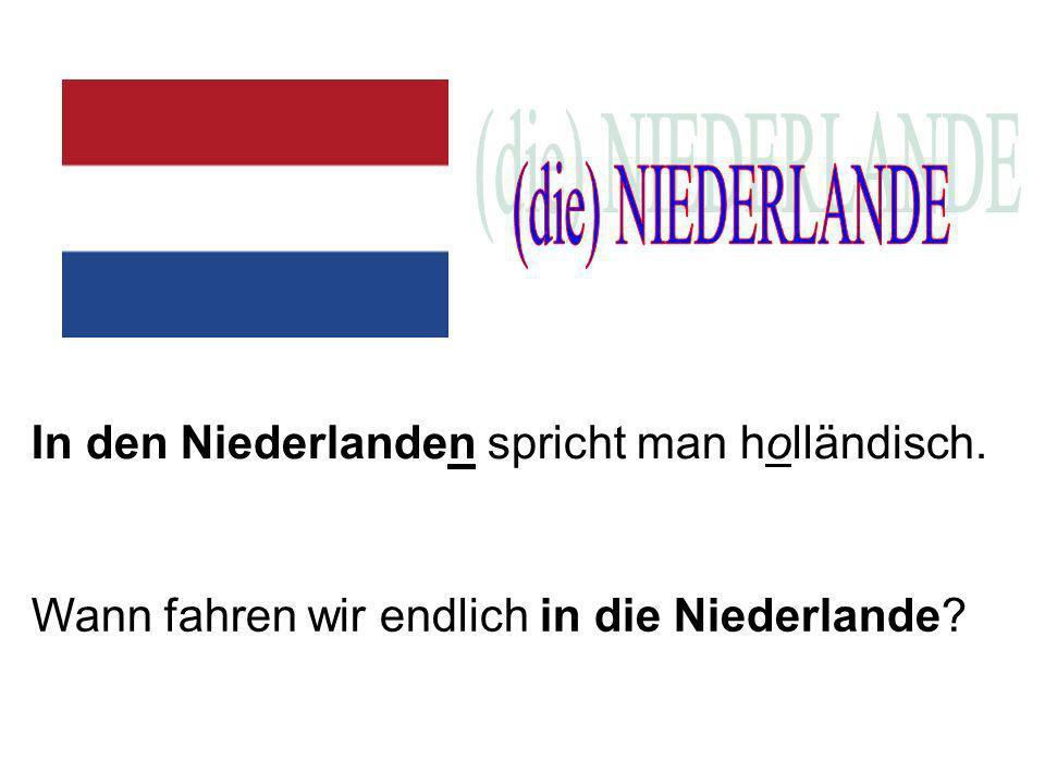 In den Niederlanden spricht man holländisch. Wann fahren wir endlich in die Niederlande?