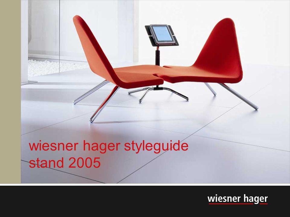 1 wiesner hager styleguide stand 2005