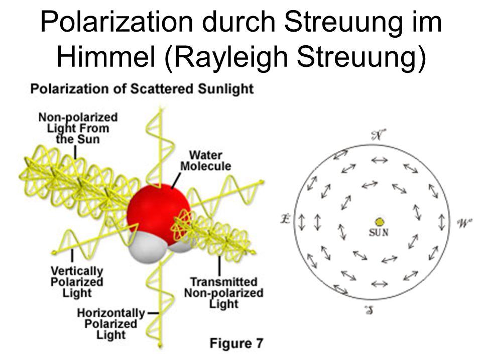Polarization durch Streuung im Himmel (Rayleigh Streuung)