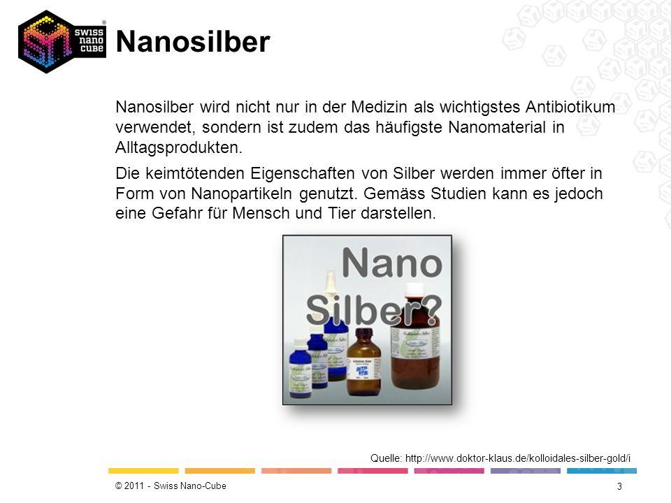 © 2011 - Swiss Nano-Cube Nanosilber 3 Quelle: http://www.doktor-klaus.de/kolloidales-silber-gold/i Nanosilber wird nicht nur in der Medizin als wichti