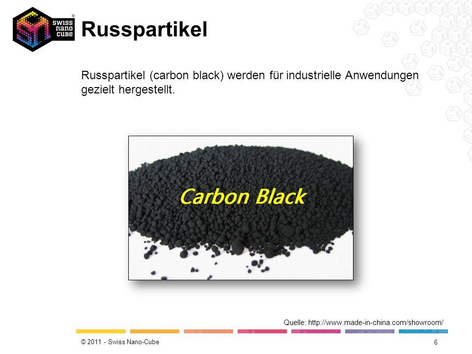 © 2011 - Swiss Nano-Cube Russpartikel 6 Quelle: http://www.made-in-china.com/showroom/ Russpartikel (carbon black) werden für industrielle Anwendungen