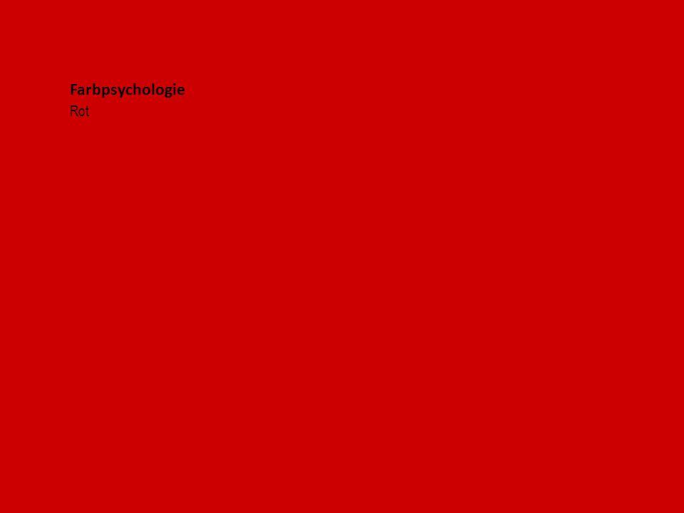 Farbpsychologie Rot