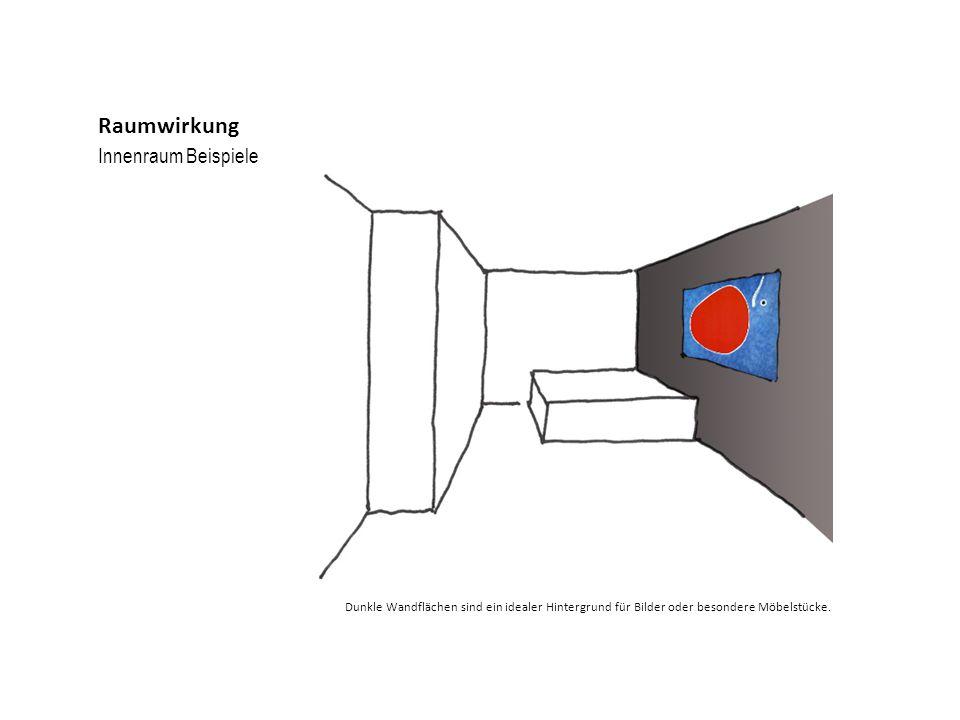 Innenraum Beispiele Raumwirkung Dunkle Wandflächen sind ein idealer Hintergrund für Bilder oder besondere Möbelstücke.