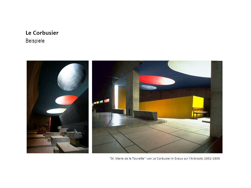 Beispiele Le Corbusier St. Marie de la Tourette von Le Corbusier in Eveux sur lArbresle, 1952-1959