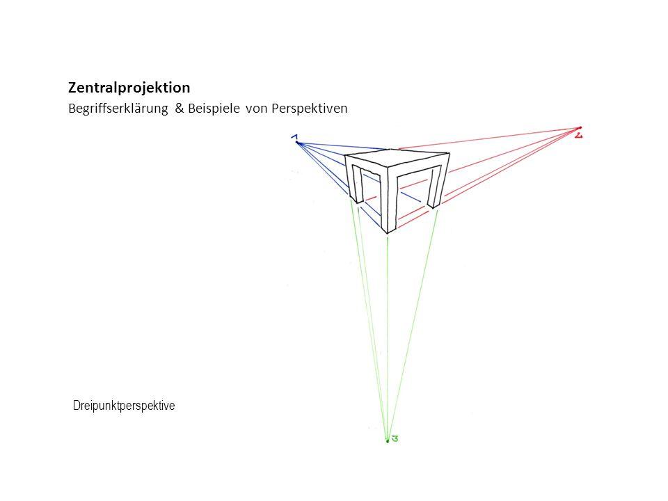 Begriffserklärung & Beispiele von Perspektiven Zentralprojektion Dreipunktperspektive