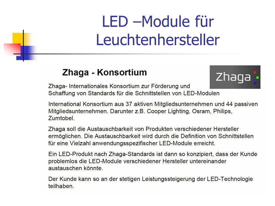 LED –Module für Leuchtenhersteller