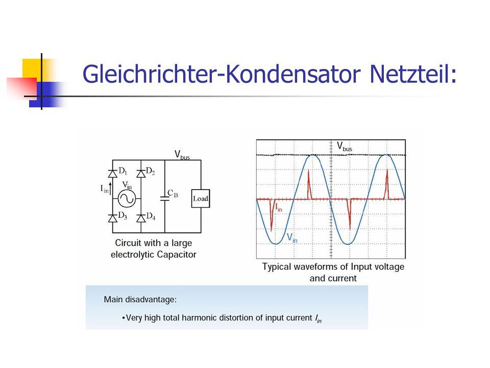Gleichrichter-Kondensator Netzteil: