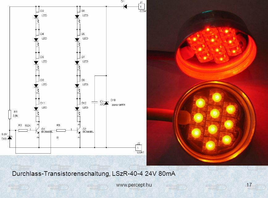 www.percept.hu17 Durchlass-Transistorenschaltung, LSzR-40-4 24V 80mA