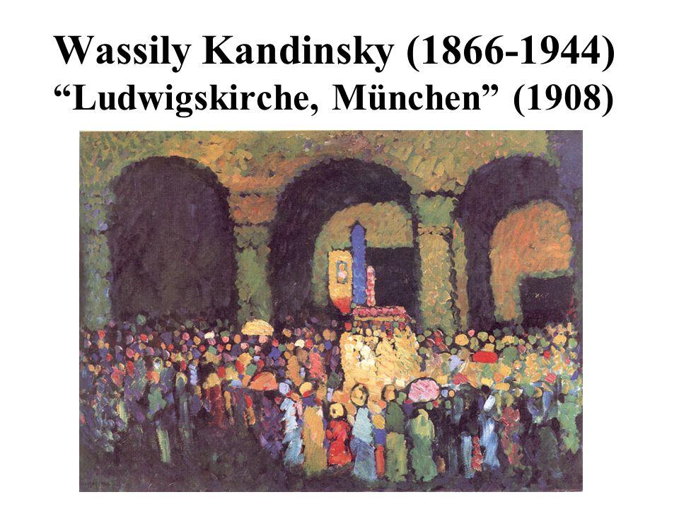 Wassily Kandinsky (1866-1944) Ludwigskirche, München (1908)