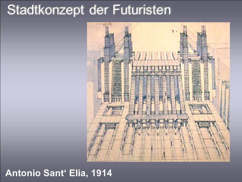 Stadtkonzept der Futuristen Antonio Sant Elia, 1914