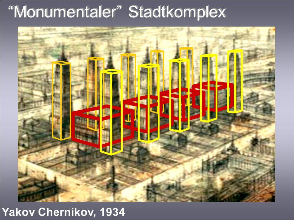 Monumentaler Stadtkomplex Yakov Chernikov, 1934
