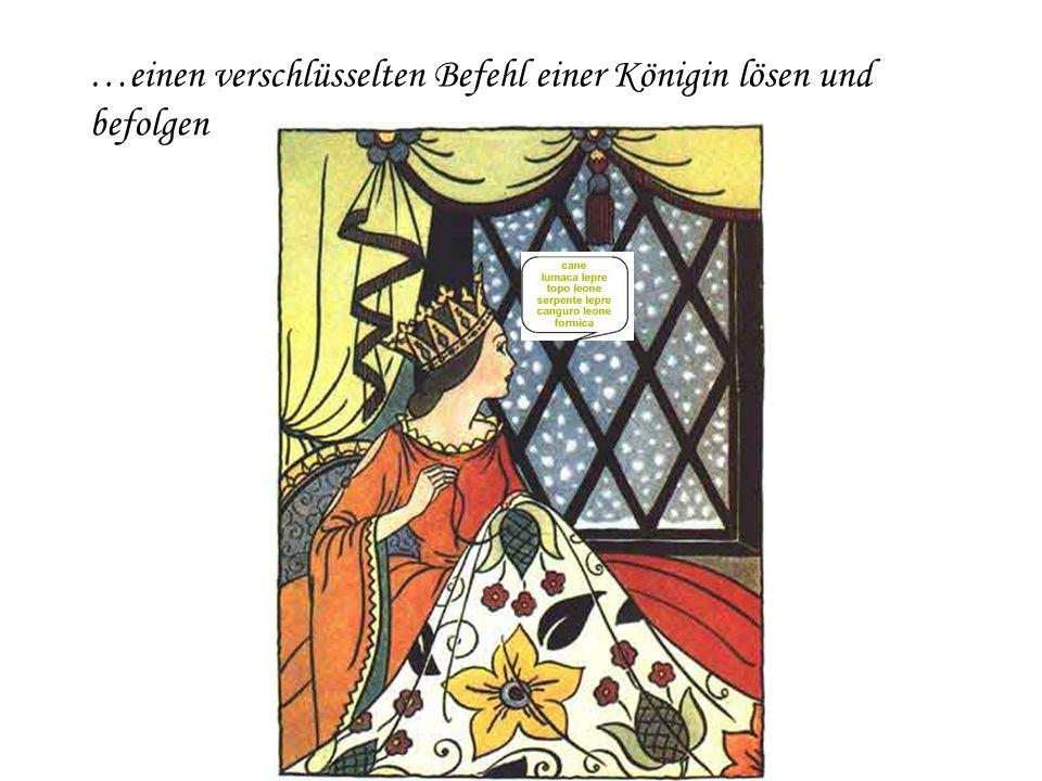 Regina Reginella, quanti passi devo fare per arrivare al tuo castello così grande e così bello? …ein Kinderreim auf Italienisch sagen,