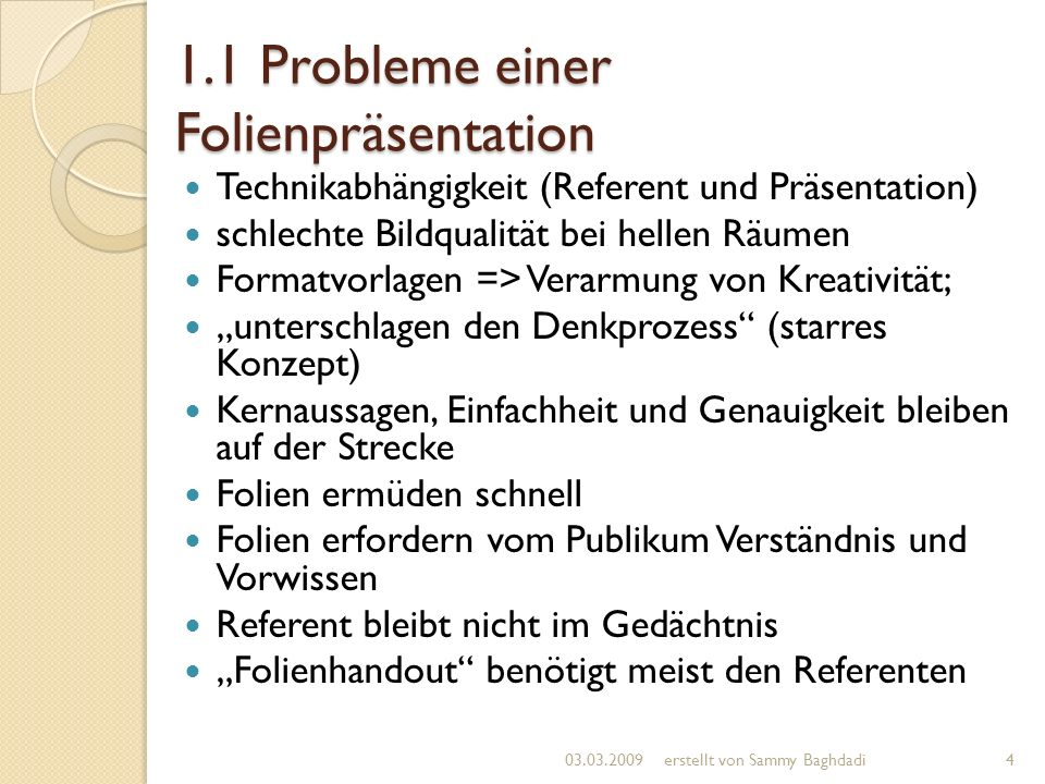 1.2 Einsatz von Beamerpräsentationen Präsentationen zur Akquisition von Aufträgen (Unternehmen, öffentliche Einrichtungen etc.)...