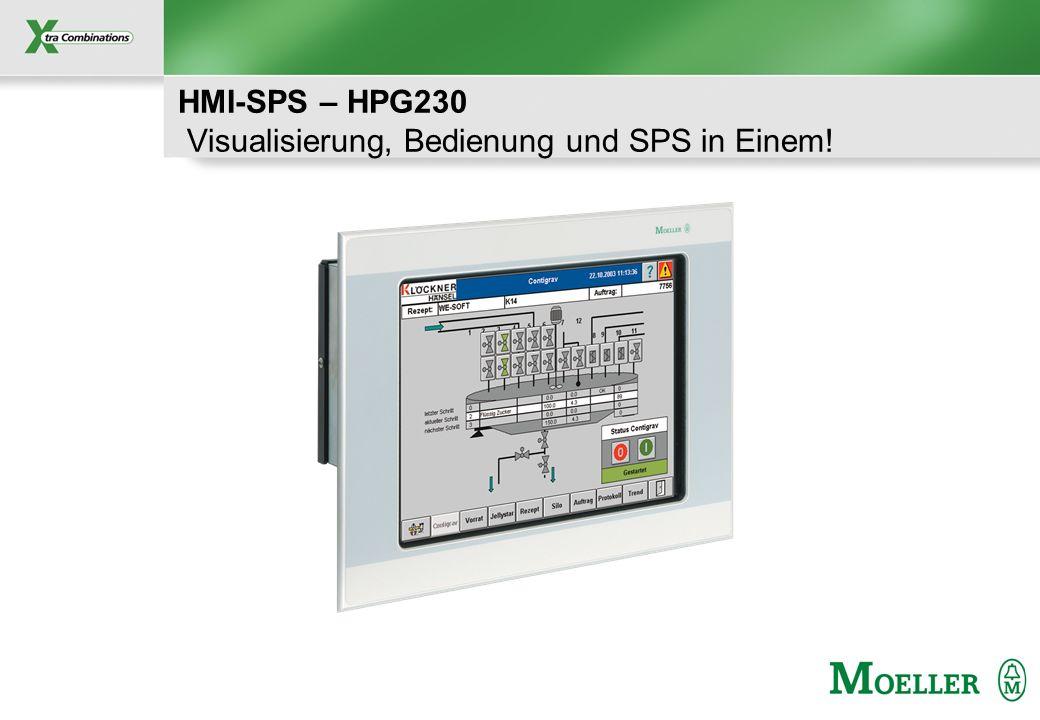 Schutzvermerk nach DIN 34 beachten HMI-SPS – HPG230 Visualisierung, Bedienung und SPS in Einem!