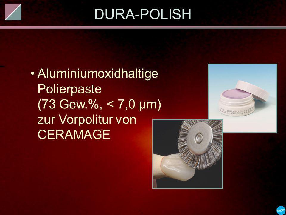 DURA-POLISH Aluminiumoxidhaltige Polierpaste (73 Gew.%, < 7,0 µm) zur Vorpolitur von CERAMAGE