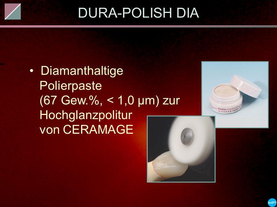 DURA-POLISH DIA Diamanthaltige Polierpaste (67 Gew.%, < 1,0 µm) zur Hochglanzpolitur von CERAMAGE