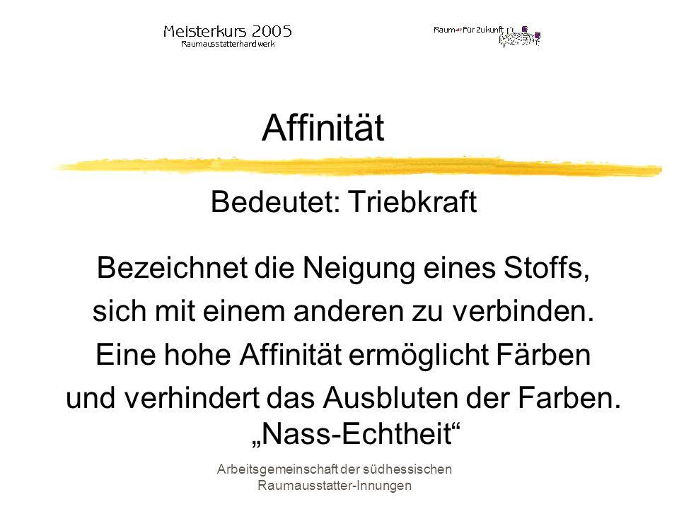 Arbeitsgemeinschaft der südhessischen Raumausstatter-Innungen Adhäsion Bedeutet: Anhangskraft Die Anziehungskraft die zwischen den Molekülen unterschiedl.