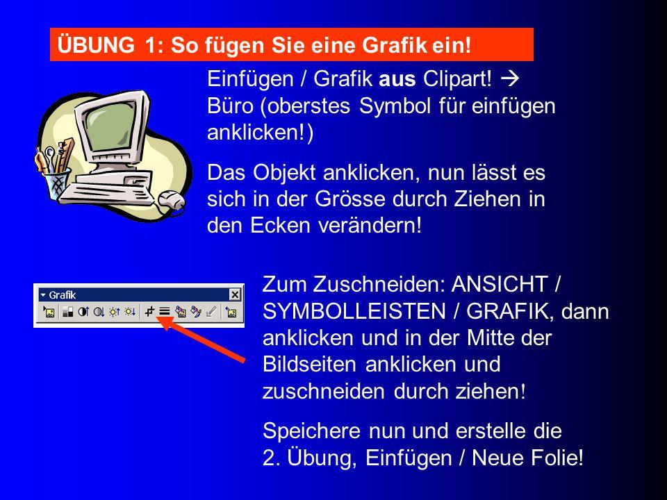Zum Zuschneiden: ANSICHT / SYMBOLLEISTEN / GRAFIK, dann anklicken und in der Mitte der Bildseiten anklicken und zuschneiden durch ziehen ! Speichere n