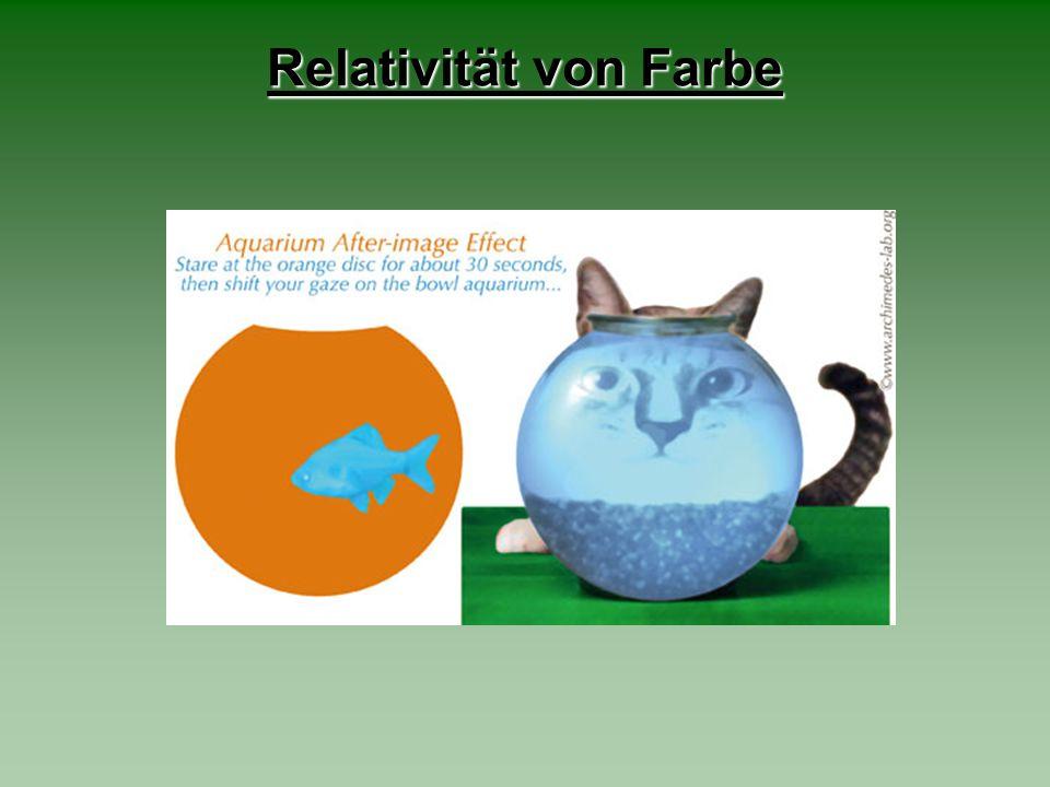 Relativität von Farbe
