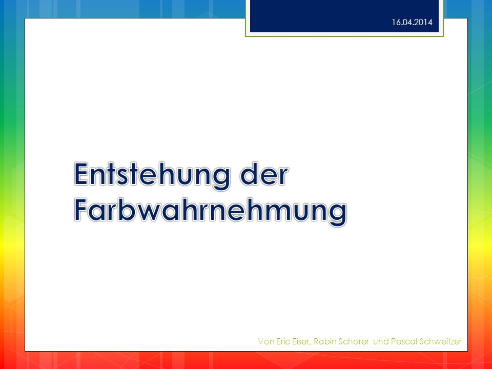 Azofarbstoffe Größte Farbstoffgruppe Nur synthetisierbar Merkmal: Azogruppe Herstellung 16.04.2014 Von Eric Eiser, Robin Schorer und Pascal Schweitzer