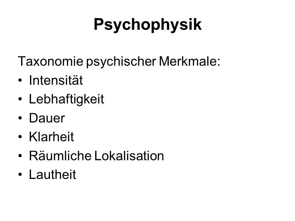 Psychophysik Methode Experiment: Bewusstseinshalte sind prozesshaft, niemals konstant; experimentelle Bedingungen schaffen stationäre Zustände, deren