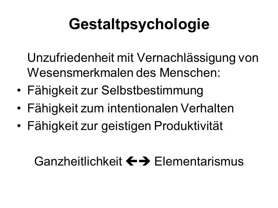Psychophysik Taxonomie psychischer Merkmale: Intensität Lebhaftigkeit Dauer Klarheit Räumliche Lokalisation Lautheit