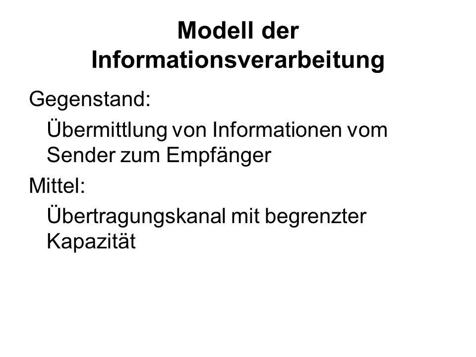 Nachrichtentechnik - Informationstheorie Anstoß für Weiterentwicklung der Denkpsychologie durch: –Entwicklung der Nachrichtentechnik –Informationstheo