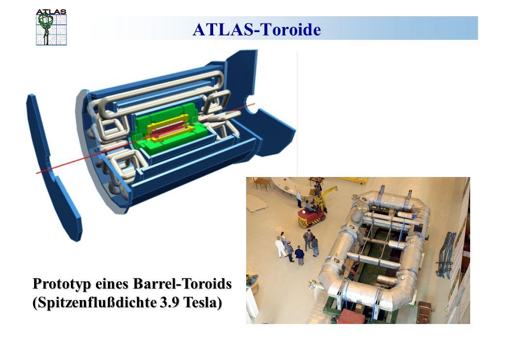 ATLAS-Toroide Prototyp eines Barrel-Toroids (Spitzenflußdichte 3.9 Tesla)