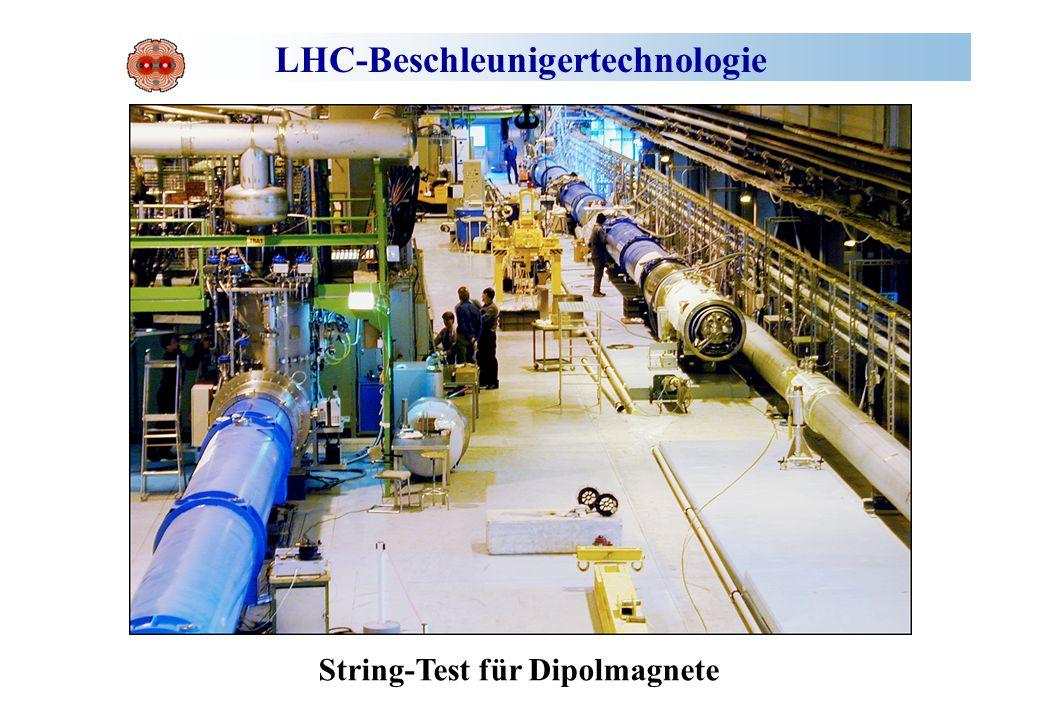 LHC-Beschleunigertechnologie String-Test für Dipolmagnete