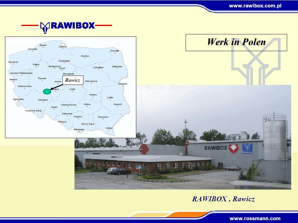 www.rawibox.com.pl www.rossmann.com Zahlen & Maschinenpark 2008 Umsatz: PLN 49 Mio.