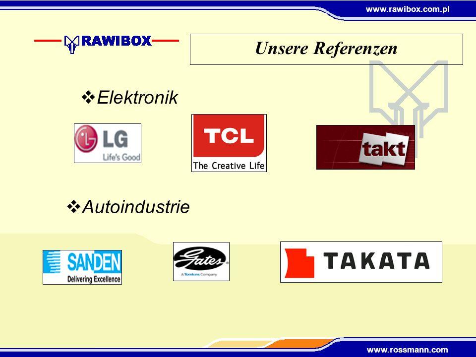 www.rawibox.com.pl www.rossmann.com Reinigungsmittel Gesundheitspflege Unsere Referenzen