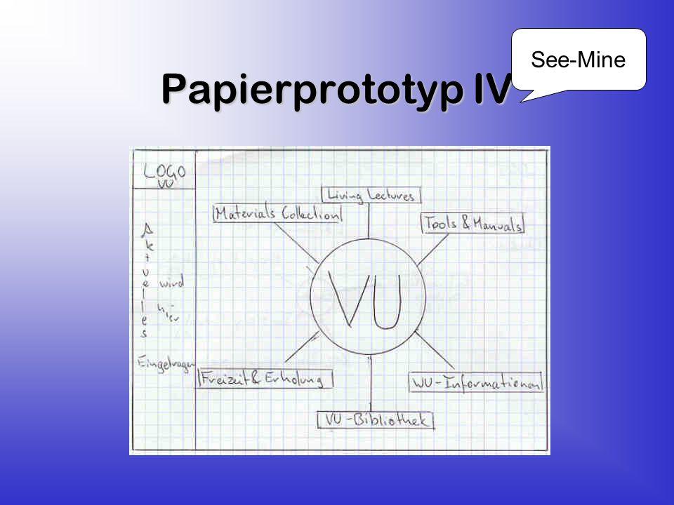 Papierprototyp IV See-Mine