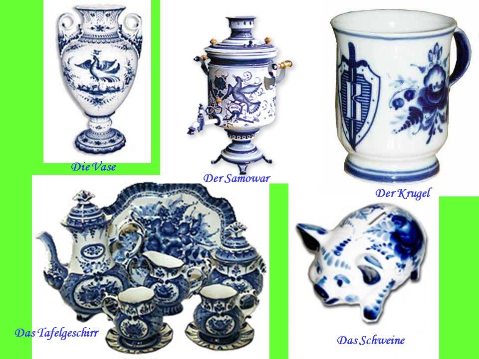 Die Vase Der Samowar Der Krugel Das Tafelgeschirr Das Schweine